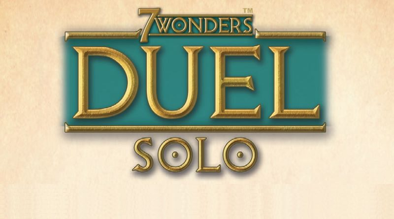 Jeudice - Repos Production - 7 Wonders Duel Solo