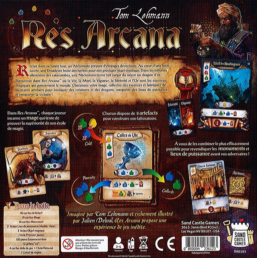 Jeudice - Sand Castle Game - Res Arcana - Arrière de la boite