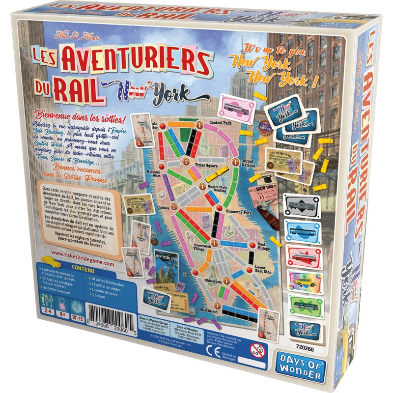 Jeudice - Day of Wonder - Les aventuriers du Rail New York
