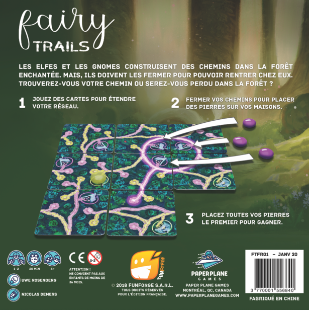 Jeudice - Paperplanes Games - Funforge - Fairy Trails