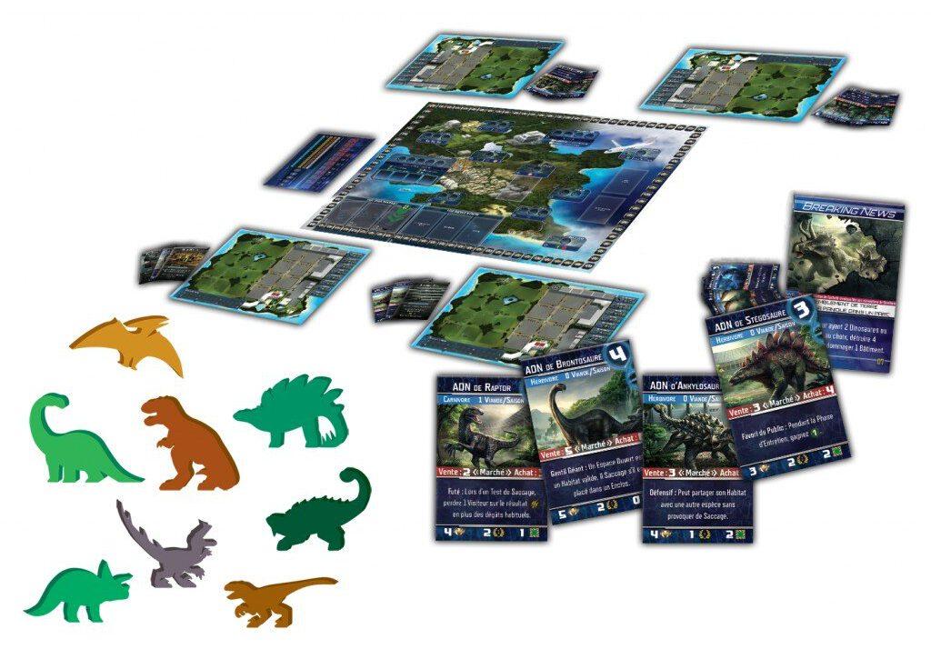 Jeudice - Ninth Haven Games - La boite de jeu - Dinogenics